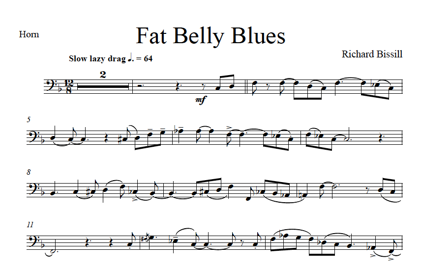 Fat Belly Blues, for Horn and Piano