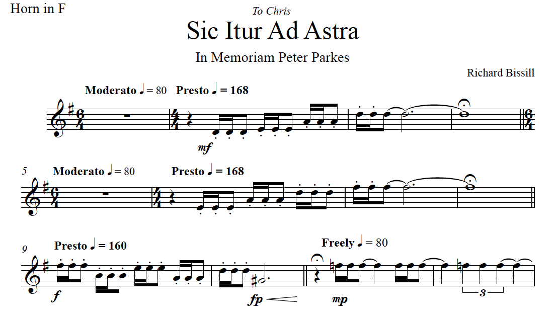 Sic Itur Ad Astra, for Horn and Piano