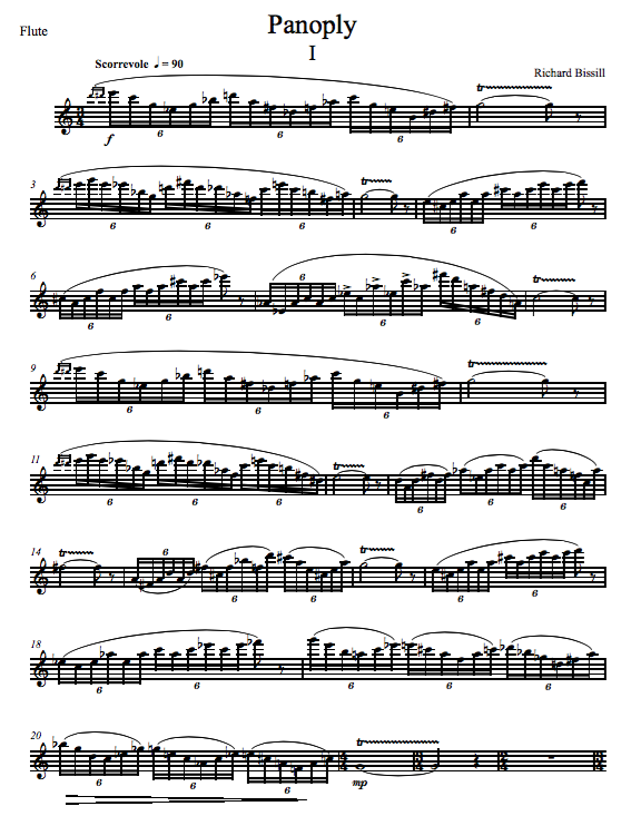 Panoply, for Flute and Piano (or 2 Harps)